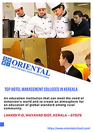Top Hotel Management Colleges in Kerala