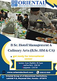 Hotel Management & Culinary Arts