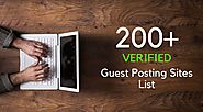 List of 200+ Free High DA Instant Approval Guest Posting Sites