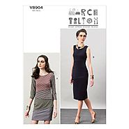 Vogue Patterns V8904 Misses' Dress Sewing Template, Size A5 (6-8-10-12-14)