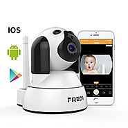 FREDI Wireless Camera Baby Monitor 720P HD Wireless Security Camera With Two-Way Talking,Infrared Night Vision,Pan Ti...