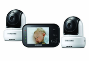 Samsung Ultra View 2-Camera Baby Monitoring System, Black/White