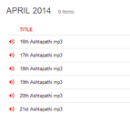 APRIL 2014 - Click here to see all the tracks