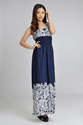 2014 summer print blue Bohemia long dress high waist Maxi dresses on beach-in Dresses from Apparel & Accessories on A...