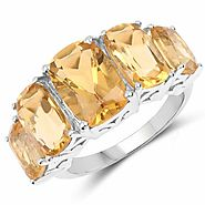 Citrine .925 Sterling Silver Ring