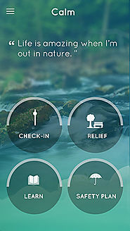 Calm in the storm app - An app for coping with the stresses of life.
