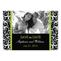 Green Swirl Photo Save the Date