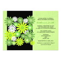 Green Gerber Daisy Bridal Shower Invitation