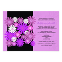 Purple Gerber Daisy Bridal Shower Invitation