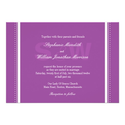 Modern Monogram Purple Wedding Invitation
