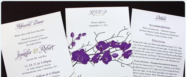Headline for Best Purple Lavender Wedding Invitations 2018-2020