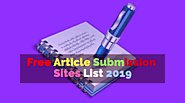 60 Free Dofollow High PR Article submission sites list 2019 - Grabme.in