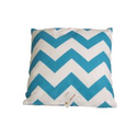 Blue Chevron Throw Pillows