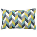 Navy Blue, Light Blue, Yellow, and Gray Chevron