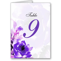 Purple Rose Wedding Table Seating Number