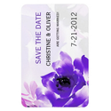 Purple Rose Wedding Magnet