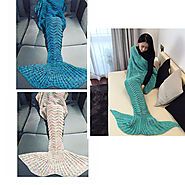 Mermaid Tail Knitted Throw