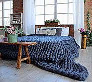 Luxurious, Oversized Knitted Throw