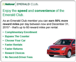 National Car Rental - Bypass the Counter, Last Minute Specials