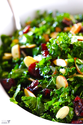 Kale Salad with Warm Cranberry Vinaigrette