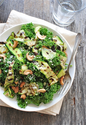 Grilled Zucchini Ribbon and Kale Salad {Tablespoon Tuesdays}