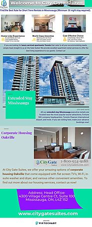 Furnished Apartments Rental Mississauga
