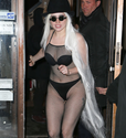 Lady Gaga Steps Out With Floor Length Hair & See-Through Bodysuit | RumorFix