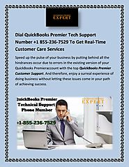 Dial QuickBooks Premier Tech Support Number +1 855-236-7529 To Get Real-Time Customer Care Services by Susan Sandoval...