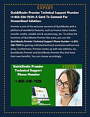 QuickBooks Premier Technical Support Number +1-855-236-7529: A Cord To Connect For Streamlined Solution