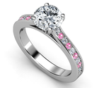 Affordable Pink Sapphire Engagement Rings With Diamonds Sale