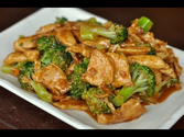 Wok Cooking Stir-fry Chicken with Broccoli Recipe