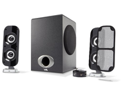 Cyber Acoustics CA-3810 3 Piece Flat Panel Design Subwoofer and Satellite Speaker System (CA-3810)