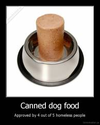Canned dog food..