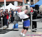 Worlds strongest man contestant drops boulder on himself | Funny People Images- Gif-King.com