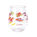 Gibson Lolita Stemless Acrylic Wine Drinkware, Flip Flop, Set of 2