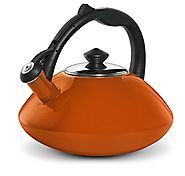 Osaka, Enamel Coated Stainless Steel Kettle For Tea, Coffee And More - Quick Boil, Rust-Resistant, Stovetop Teapot Wi...