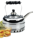 Simplex Heritage Gas Tea Kettle, Chrome