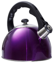 Purple Stainless Steel Shiny Tea Kettle