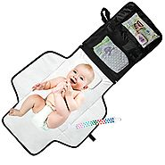 Mom's Besty Luxury Baby Change Pad with Built-in Head Cushion - Portable Diaper Changing Station for Travel and Home ...