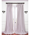 Signature Off White Double Wide Velvet Blackout Pole Pocket Curtains & Drapes
