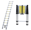 Telescoping Telescopic Extension Ladder Portable Aluminum 12.5ft