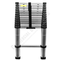 Heavy Duty Telescopic Aluminum Ladder 12.5' Extended 3' Compacted ZT-A13