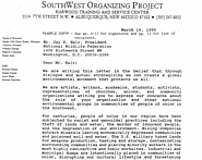"Southwest Organizing Project 1990 Letter to the ""Group of Ten"""