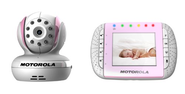 Motorola MBP36 Remote Wireless Video Baby Monitor with Infrared Night Vision and Zoom, Pink, 3.5 Inch