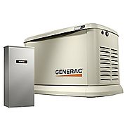 Generac 7043 Guardian Series 22kW/19.5kW Air Cooled Home Standby Generator with Whole House 200 Amp Transfer Switch (...