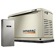 Generac 7037 Guardian Series 16kW/16kW Air Cooled Home Standby Generator with Whole House 200 Amp Transfer Switch (no...