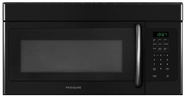 Frigidaire FFMV162L 1.6 Cubic Foot Over-The-Range Microwave with Fits-More Capacity, 1,100 Watts and, Black