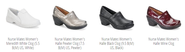 Top three comfortable shoe brands, Nursemate, Birkenstock, Born