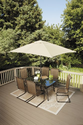 Patio Furniture Set. This Patio Furniture Set Has Steel Frame Construction With A Tempered Smoked Glass Patio Table T...