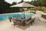 Patio Furniture Sets. This Patio Furniture Sets The Stage For Space. A 7 Piece Patio Furniture Set Featuring 6 Luxuri...